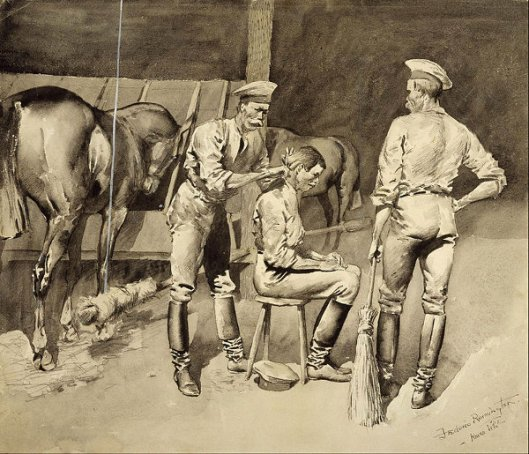 A Haircut In A Cavalry Stable