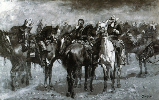 Cavalry In Arizona Sandstorm