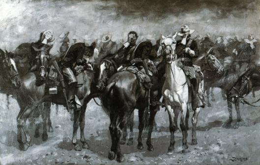 Cavalry In Arizona Sandstorm