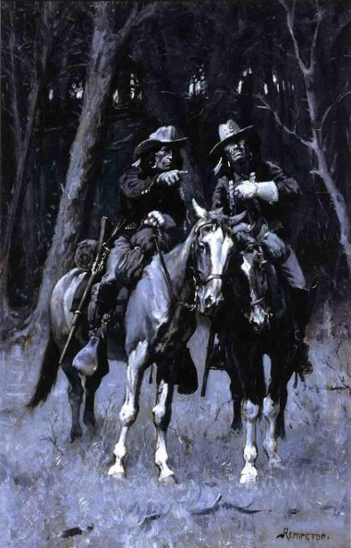 Cheyenne Scouts Patrolling The Big Timber Of The North Canadian, Oklahoma