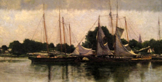 Pungies And Schooners Drying Their Sails In St. Michael's Harbor