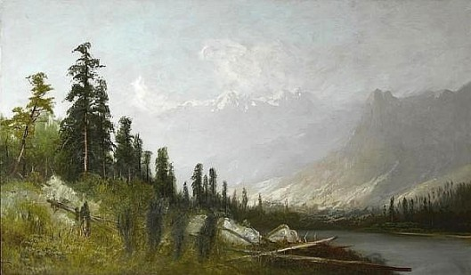 A Sierra Lake With Snow-Capped Peaks