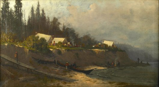 Indians On Puget Sound Near Port Townsend, Washington