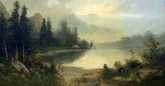 Morning On Feather River, California