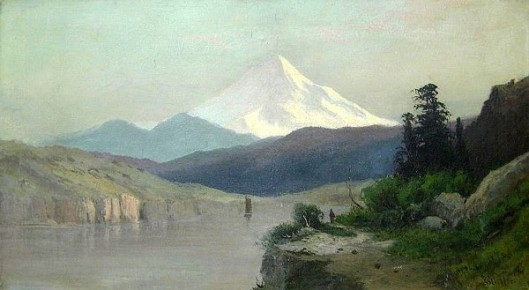 Mt. Hood From The Columbia River
