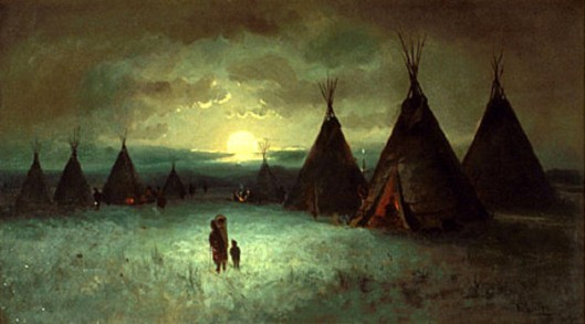 Sioux Indian Encampment