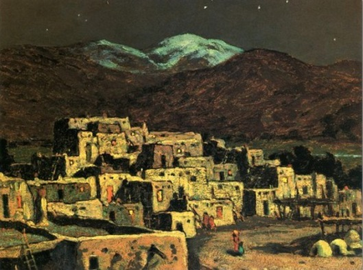 Taos Pueblo Moonlight