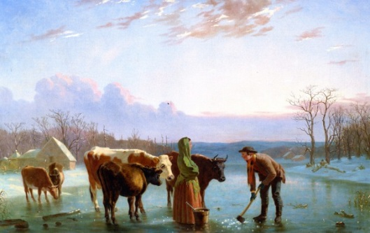 Ice Gatherers - Winter Scene, New Jersey