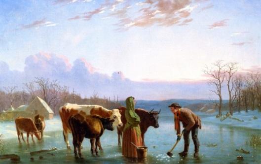 Ice Gatherers - Winter Scene, New Jersey
