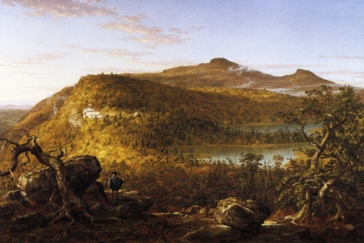 A View Of The Two Lakes And Mountain House, Catskill Mountains, Morning