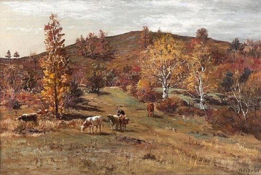 Autumn Landscape With Cows