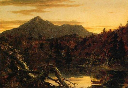 Autumn Twilight, View Of Copway Peak - Mount Chocorua, New Hampshire