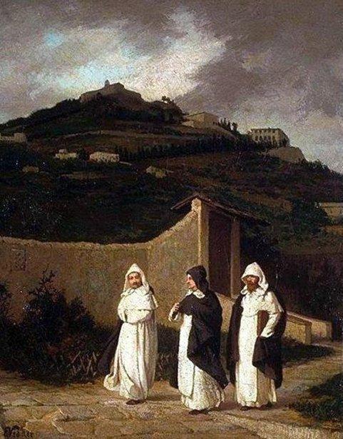 Dominicans - A Convent Garden Near Florence