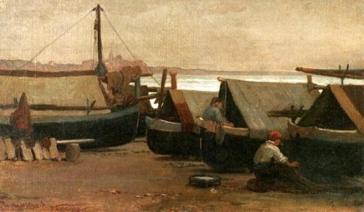 Men At Boat Dock