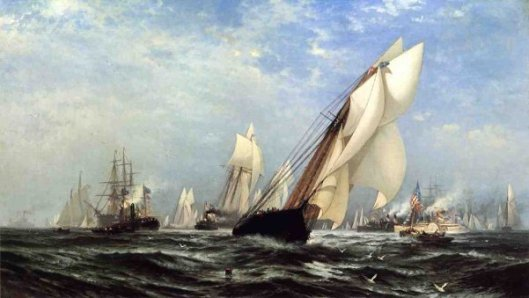 The Madeleine's Victory Over The Countess Of Dufferin, Third America's Cup Challenger, August 11, 1876