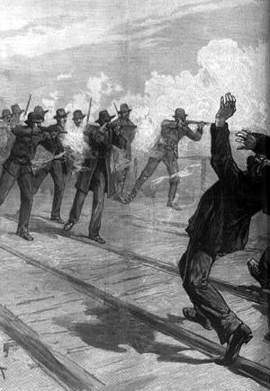 The Strike At East St. Louis - Firing Into The Crowd
