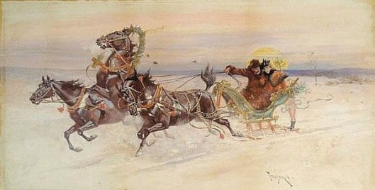 Young Couple In A Sleigh