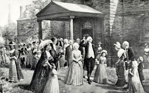 George Washington At St. Paul's Chapel, 1789