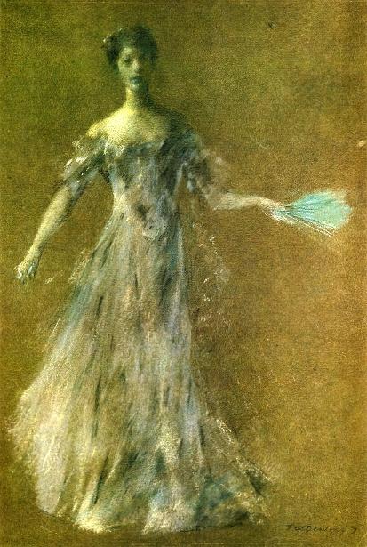 Lady In Lavender Dress