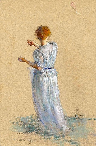 Lady With A Kite