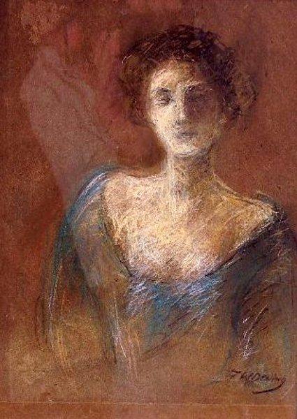The Blue Dress - Victorian Woman
