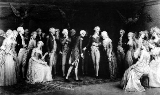 The Peace Ball At Fredericksburg, Virginia, Held At The Rising Sun Tavern After The Surrender At Yorktown, November 1781