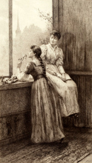 Two Girls At A Window