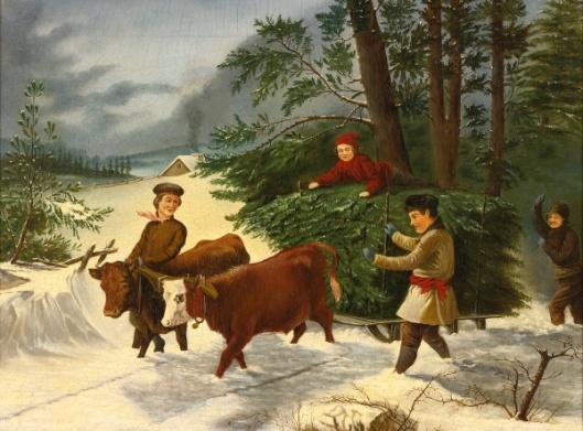 Children Harvesting Christmas Trees