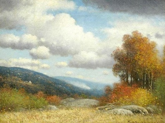Early Fall Landscape With Distant Hills