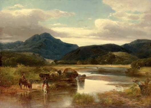 Horse Riders By A River