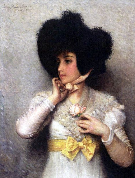 Lady With A Pink Rose
