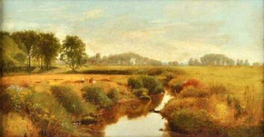 Landscape With Figures By A Stream
