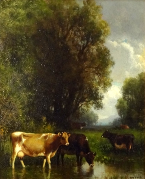 Marsh Scene With Cattle