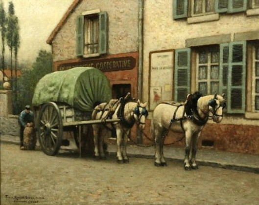 The Milk Cart - The Baker's Cart - Nemours, France