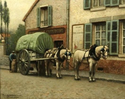The Milk Cart - The Baker's Cart - Nemours, France