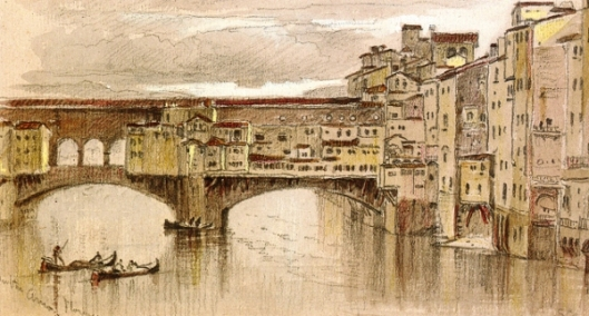 Along The Arno, Florence, Italy