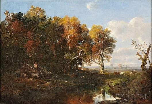 Autumn Landscape With Cows
