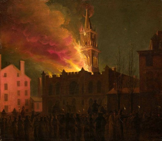 Conflagration Of The Masonic Hall, Chestnut Street, Philadelphia