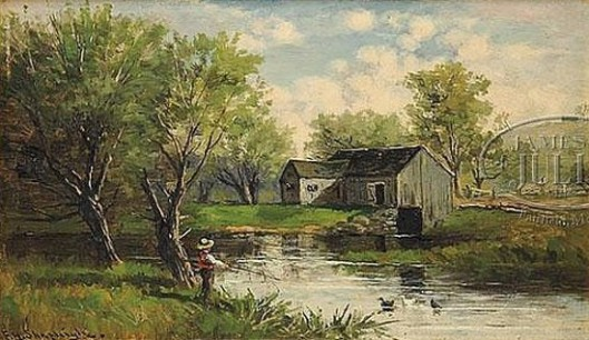 Fishing In The Mill Pond