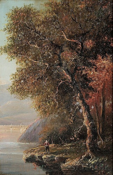 Hudson River Scene In Autumn