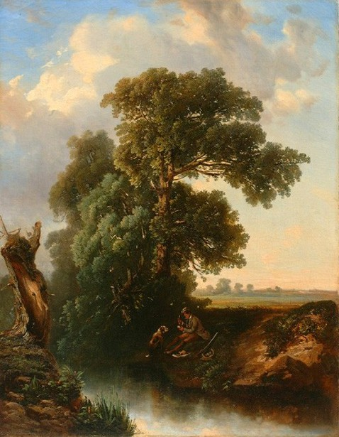 Landscape With Hunter And Dog