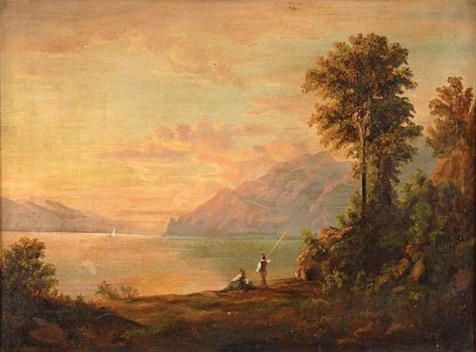Landscape With Man And Woman In The Foreground