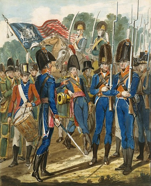 Members Of The City Troop And Other Philadelphia Soldiery