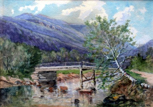 Mount Washington From The Ellis River