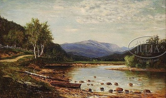 Mount Washington From The Saco River At Bartlett, NH