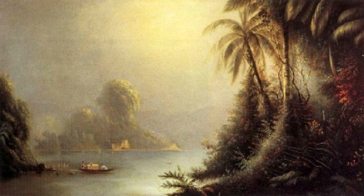 South American Lagoon Scene