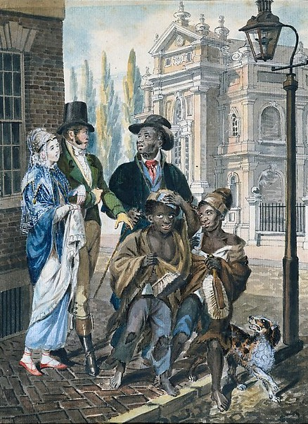 Worldly Folk Questioning Chimney Sweeps And Their Master Before Christ Church, Philadelphia