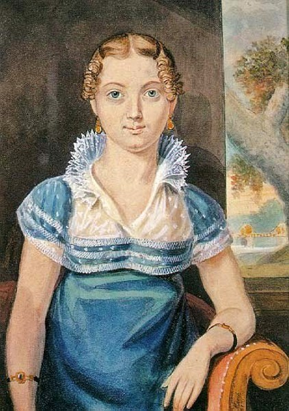 Young Girl With A Blue Dress