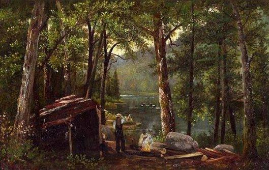 Adirondack Fisherman And Hunting Shed