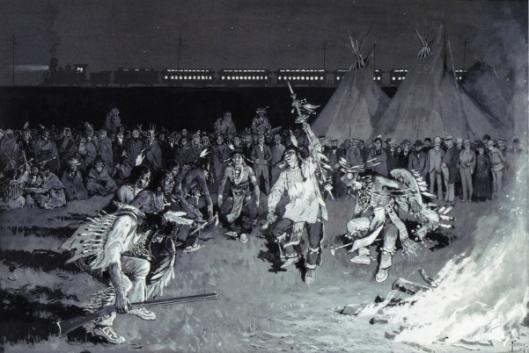 Dance Of Crow Indians